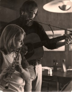 portrait of the author as a young flutist (in fifth grade, playing Christmas carols with my father)