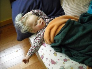 My niece demonstrates proper napping technique